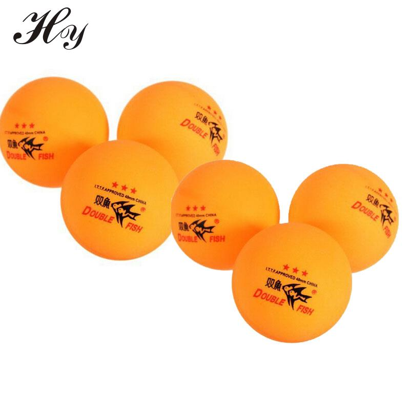 6PCS Double Fish Table Tennis Balls Training Ping Pong Ball 40 Table Tennis Balls Orange ITTF Approved Tennis Table Ball 3 Star