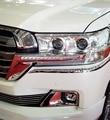 2 PCS Frente de Condução Diurna LED Com Sinal de Volta Cromo Luz de Substituição Kit Para Toyota Land Cruiser LC200 2016 Facelift