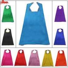 70cm*70cm superhero capes single layer bordure no printing colorful for birthday party halloween