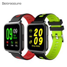 ФОТО betreasure bw17 smart watch color bluetooth heart rate monitor fitness tracker waterproof sports smart watches for android ios