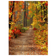 5x7ft Fall Autumn Forest Vinyl Photo Background Studio Photography Backdrops Yellow