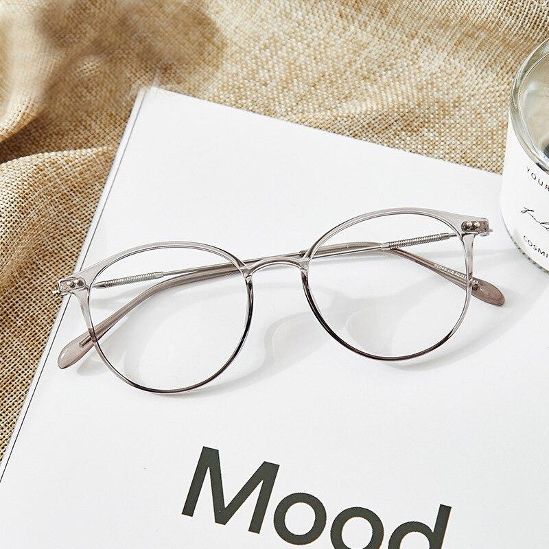 d0edc6420d Gafas de acetato Unisex de aleación sólida Marco de gafas de prescripción  de Mujeres de moda de diseñador metálico círculo gafas de miopía