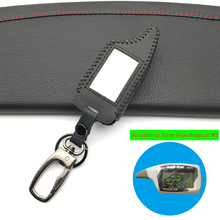 цена на Latest Car Alarm Shape 100% Leather Case For Scher-Khan Magicar Only Fit M5 Scher Khan Magicar 5 LCD Remote Cover for Starline