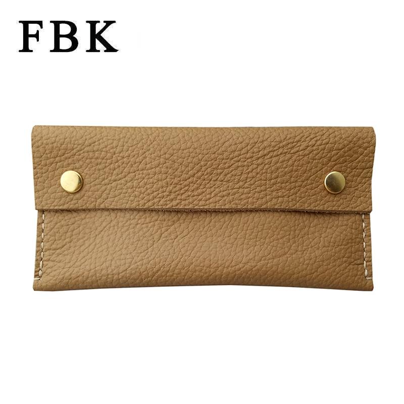 100% Genuine Leather Handmade FBK Brand New Simple Large Capacity Women Clutch Bag Purse Wallets Phone Bag Card Holder Lichi