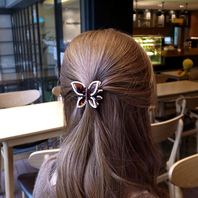 Small Butterfly Ponytail Clips Girls Hair Accessories Cute -6473