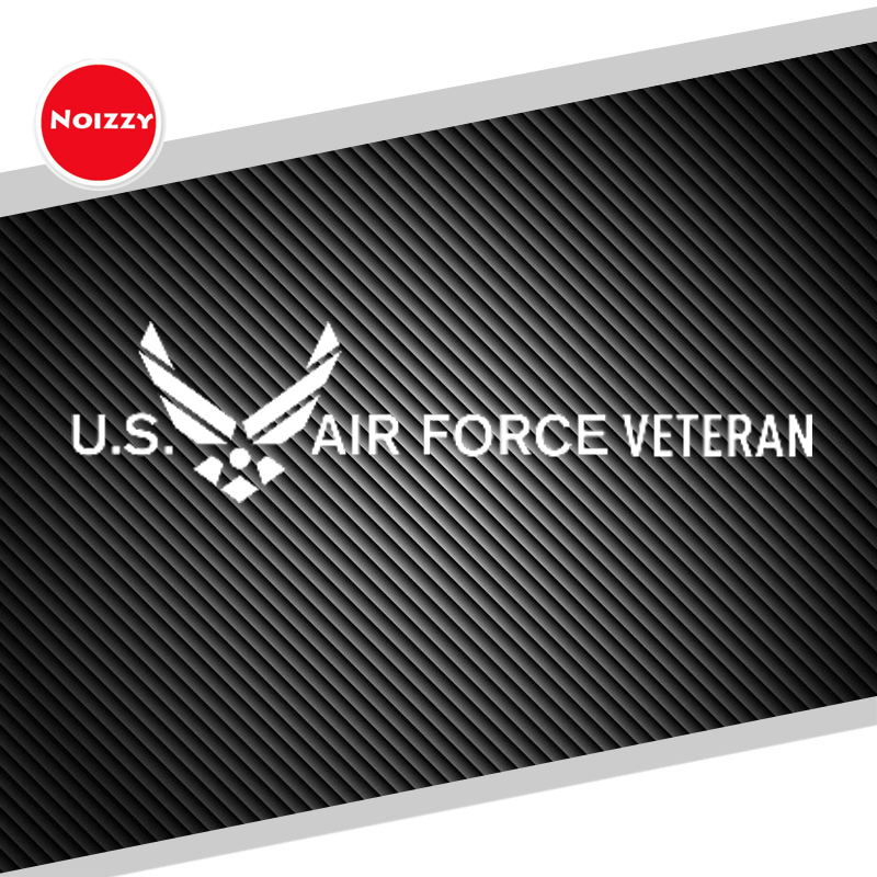 Noizzy U.S. Air Force Ho USAF Veteran Car Auto Vinyl Reflective Sticker Decal Side Door Fender Windshield Tuning Car Styling junction produce jp luxury reflective windshield sticker ho car auto motorcycle vinyl diy decal exterior window body car styling