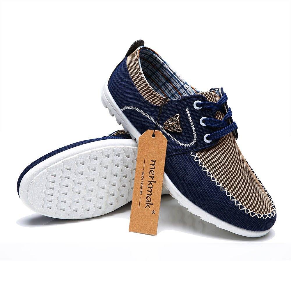 2017 New Brand Canvas Casual Men Shoes British Loafers ...