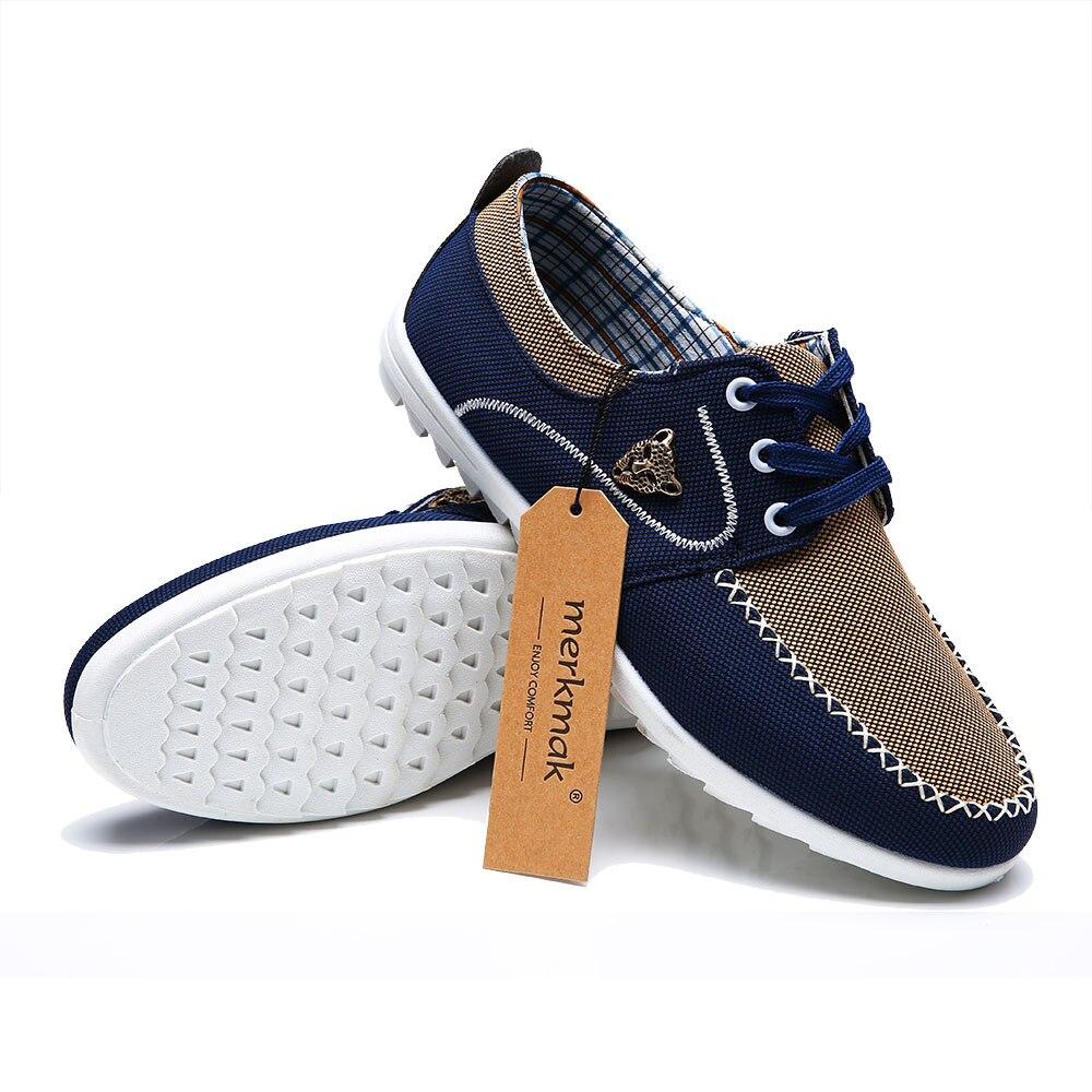 2017 nueva marca zapatos de lona casual hombres holgazanes británicos pisos mens
