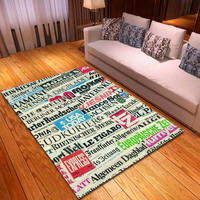Creative Doodle pattern carpets for Living Room Bedroom Area Rugs Coffee Table Sofa Floor Mat Large Size Home Soft Rug/Carpet