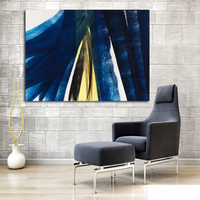 Large HD Canvas Print Painting HANS HARTUNG Dark Blue Artwork Wall Art Picture Printed On Canvas Modern Abstract Painting