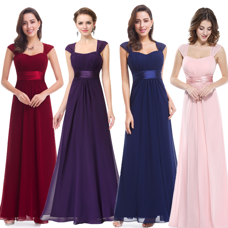 Long Simple   Bridesmaid     Dresses   2018 New Arrival Ever Pretty EP08834 Long Chiffon Cheap Wedding Party   Dresses     Bridesmaid     Dresses