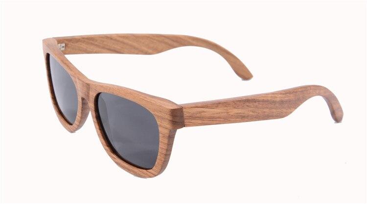 100% fait à la main poire bois lunettes de soleil Rectangle style hommes de lunettes de soleil polaroid conduite lunettes z6135