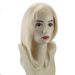 Полный блеск 130% плотность одноцветное Цвет #613 желтый блондинка Боб Синтетические волосы на кружеве парик прямо парик шнурка с волосы