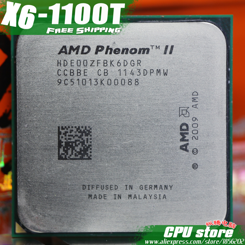 AMD Phenom II X6 1100T CPU/Black Edition/HDE00ZFBK6DGR/E0/unlocked 3.3G/L3=6M/ Six Core (working 100% Free Shipping)-in CPUs from Computer & Office