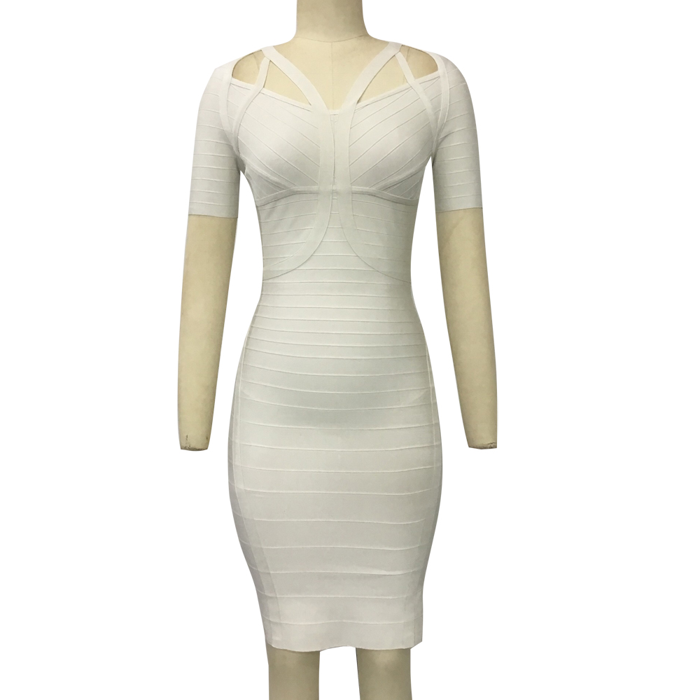 KAOUYOU 2019 robe femmes été col rond à manches courtes Bandage moulante Mini robe tenue décontractée Clubwear