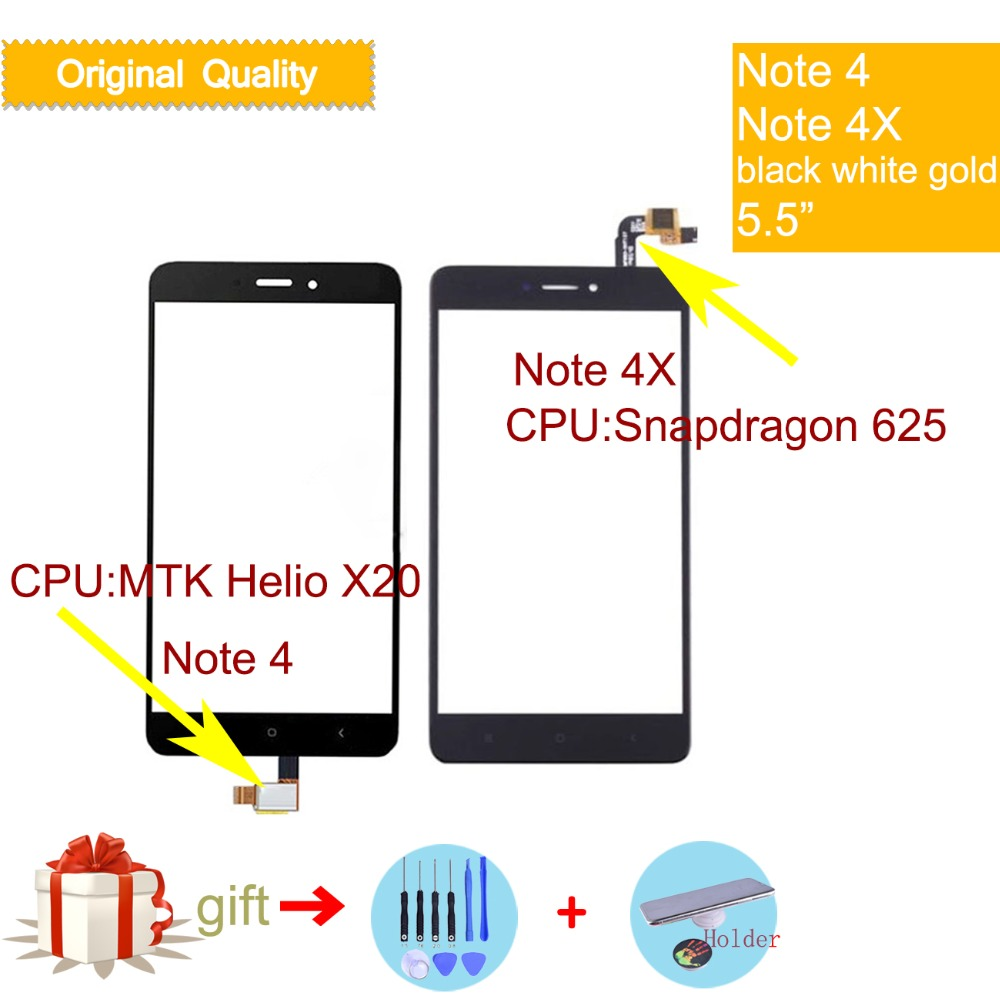 Original For Xiaomi Redmi Note 4 Touch Screen Digitizer For Redmi Note 4X Touch Panel Sensor LCD Display Front Glass Note4