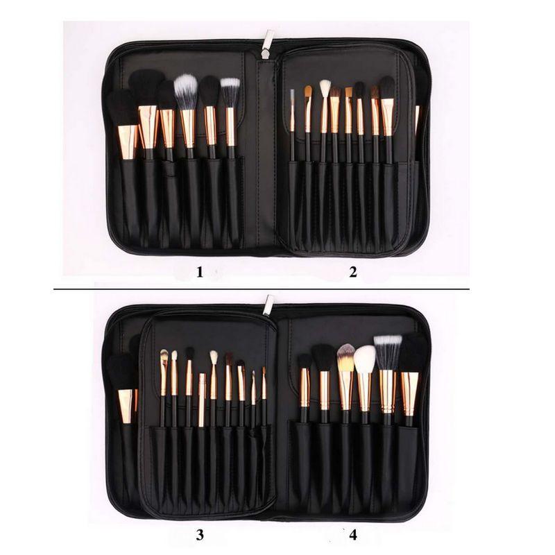 BEILI Black Professional 40 шт. набор кистей для макияжа мягкие натуральные щетинки смешивание порошка кисточка для бровей основа под макияж кисть - 2