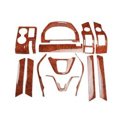 13 adet/takım araba ABS iç Maun/karbon fiber desen kapakları aksesuarları Honda Crv cr-v 2007 2008 2009 2010 2010 2011