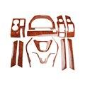 13pcs/set car ABS interior Mahogany / carbon fiber pattern covers accessories for Honda Crv Cr-v  2007 2008 2009 2010 2010 2011