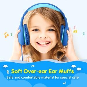 Image 4 - Mpow CH6 Auriculares con cable para niños Auriculares con cable ajustables y plegables con conector de audio de 3,5 mm y micrófono para niños para iPod