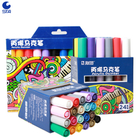 Sta Acrylic Body Painting 12 24 Colors Mark Pen Water Based Painted Pen For Drawing Christmas