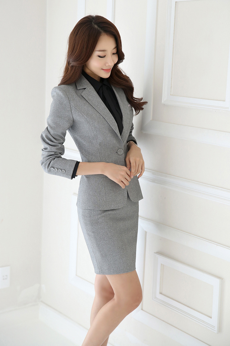 IZICFLY Spring Black Blazer Feminino Female Uniform Business Suits with Trouser Elegant Slim Office Suits for Women Clothing 4XL 63