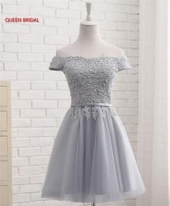 Image 3 - Hot Sale Many Colors A line Cap Sleeve Tulle Lace Short Evening Dresses 2020 New Elegant Party Dress Prom Gown EN04K