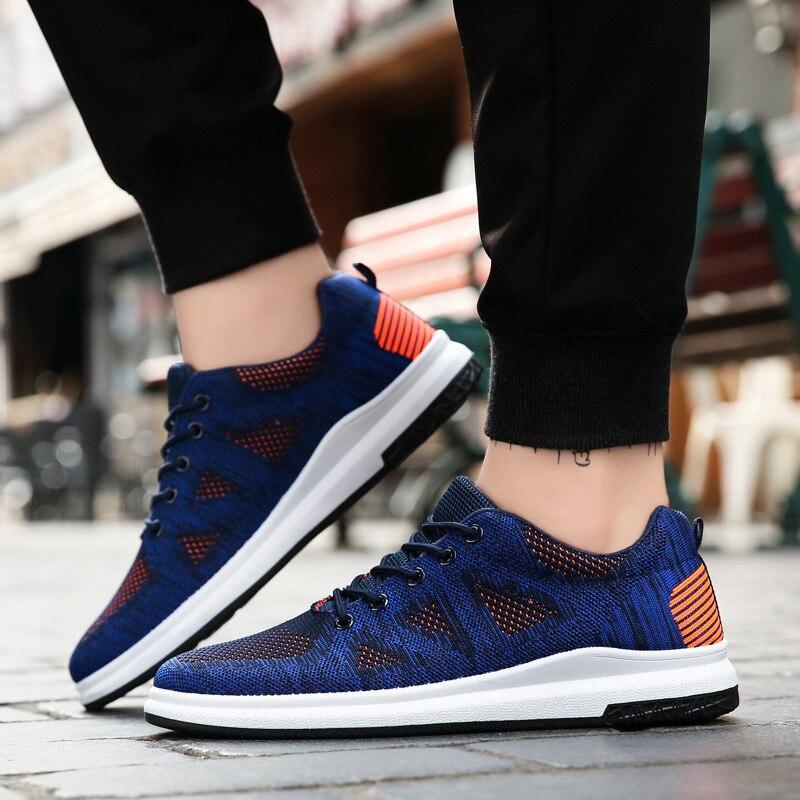 Sapatos Dos Respirável Preto Coreano Homens New azul cinza pqU41wW