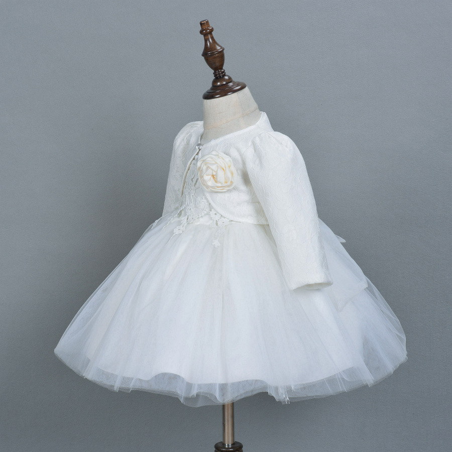 Baby Girl Pageant Wedding Dresses With Hat Infant Princess Little ...