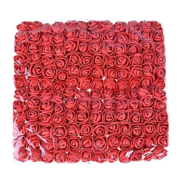 144pcs/lot 2.5cm Artificial Foam PE Rose Bouquet fake flower For Home Wedding Car Decoration DIY Pompom Wreath Decorative Bridal