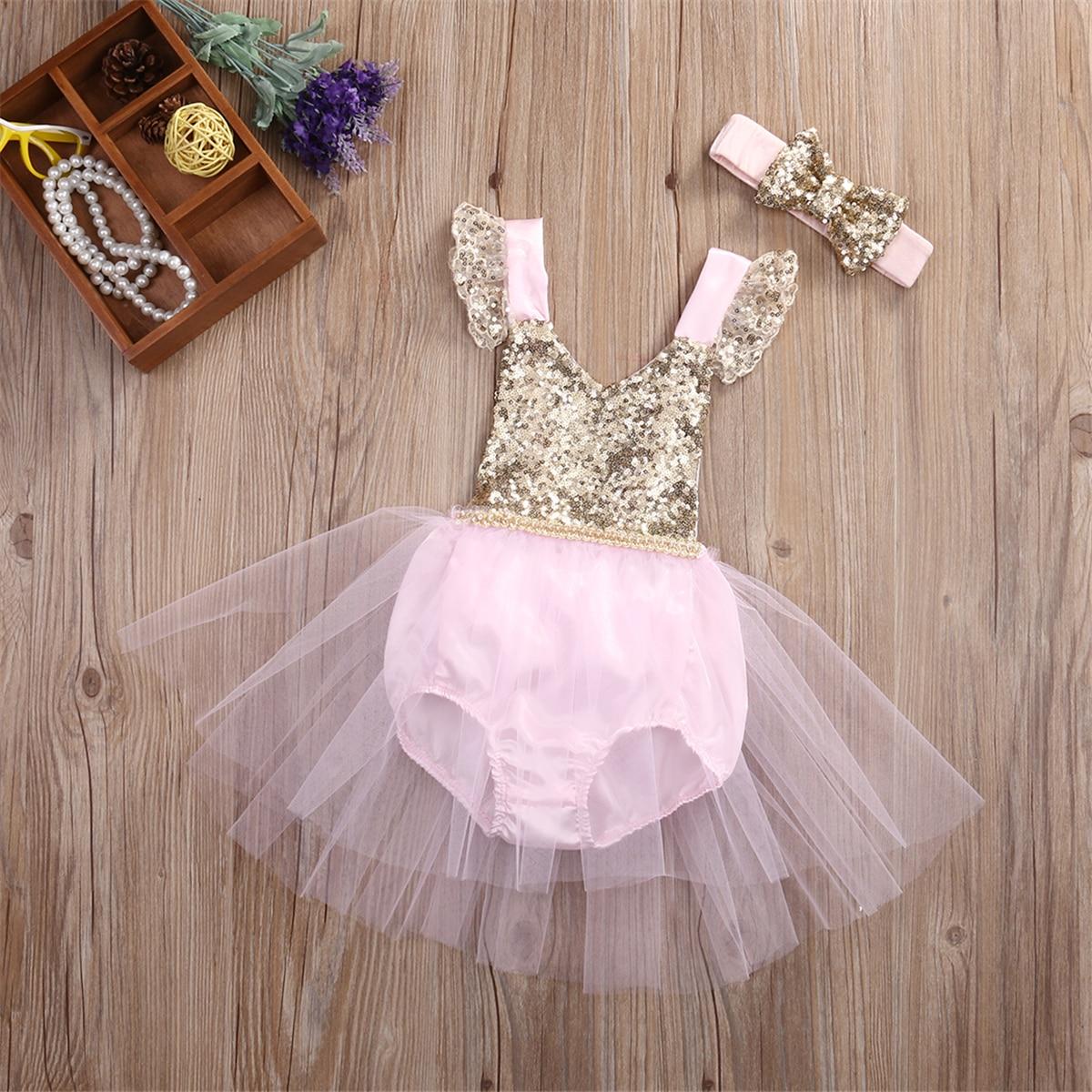 Emmababy Toddler Baby Girls Clothing Princess Dress Party Tutu Flower Dress 0-3 Year