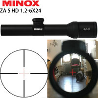 MINOX ZA 5i HD 1.2 6X24 IR Compact Hunting Trail Rifle Scope Glass Etched Illuminated Reticle Long Eye Relief Sight RifleScopes