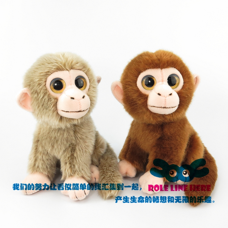 Baby Kids Animal Comfort Doll Lovely Simulation Monkey Cute Plush Animal Toy Doll Ornaments stuffed animal 44 cm plush standing cow toy simulation dairy cattle doll great gift w501