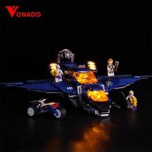 Vonado Legoings 76126 LED lighting Movie avengers Superman Bad Cop Building Blocks Toys Children Only