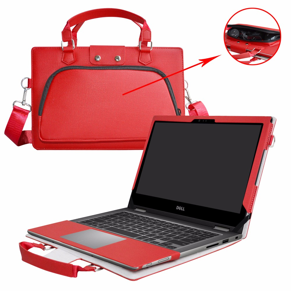 цена на 2 in 1 Accurately Designed Protective Cover + Portable Carrying Bag For 13.3 Dell Inspiron 13 5000 series 5379 5378 5368 Laptop