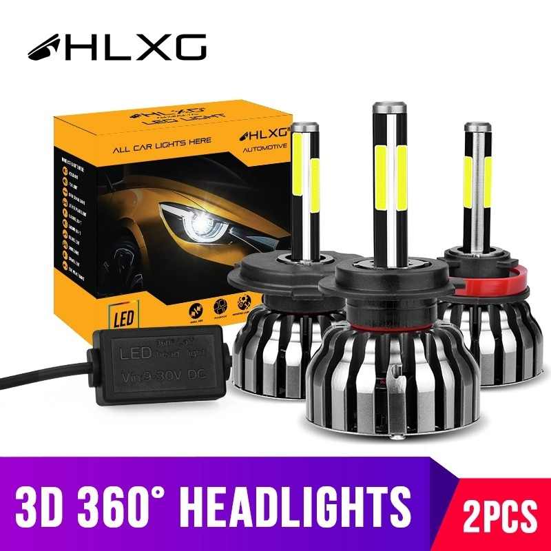 hlxg 4 Sides 12000LM H8 H11 Fog lights No Error h7 led canbus H4 LED Lamp HB3 9005 HB4 H1 H27 Auto 12V 6000K 4300K 8000K 5000K