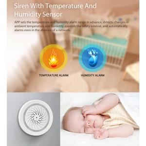 Image 3 - SMARSECUR Smart Wireless WiFi Siren Alarm Sensor USB Power tuya samrt life temperature and  humidity sensor