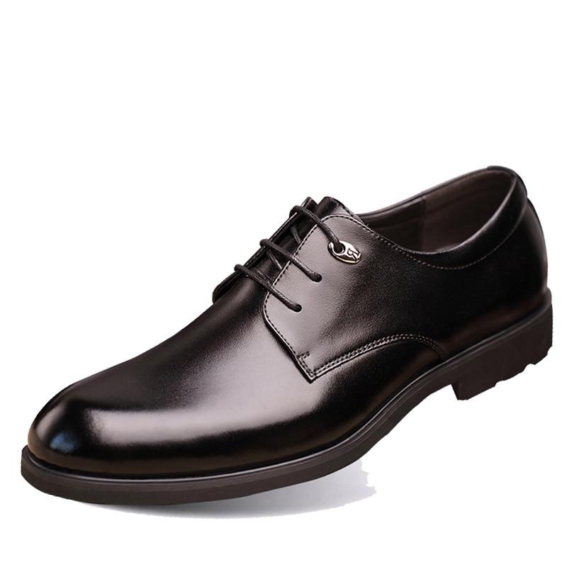 2017 Hohe Qualität Aus Echtem Leder Männer Wohnungen Schuhe Lace-up Geschäfts-kleid Männer Oxfords Schuhe Männliche Formale Schuhe