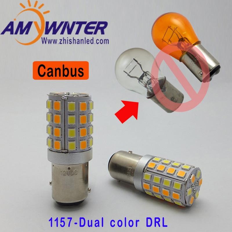 AMYWNTER 1156 led P21W Canbus LED Daytime Running Light Bulb 12V 1157 P21/5W 600LM Drl ...