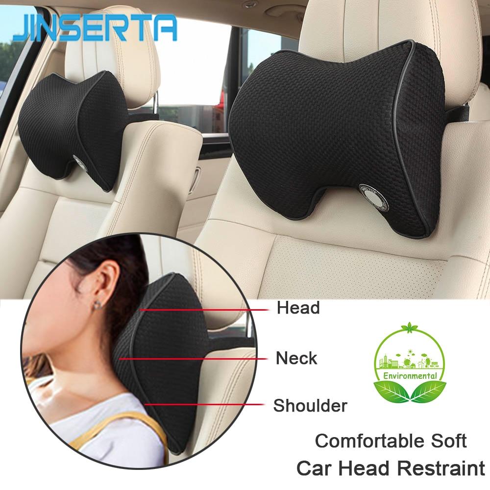 JINSERTA Seat-Cushions Head-Restraint Sleep-Pillow Car-Accessories Memory-Foam Back-Support