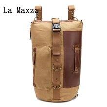 Новинка 2018 года одного плеча холст ведро рюкзак сумка для ноутбука LJX-0610