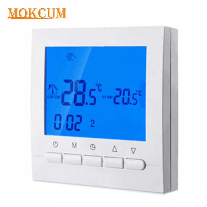Programmable Thermostat Wifi Remote Control Electric Floor Heating Thermostat Smart Room Temperature Controller 16A AC200~240V floor heating thermostat temperature control switch electric film thermostat electric geothermal uth 170r