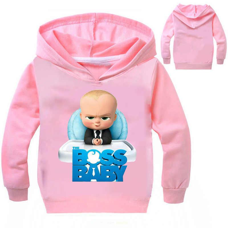 c2ff791cb96f ... 2-12Years Boss Baby Birthday Gift Kids Boys Sweatshirts Girls Hoodies  Teenagers Pullover Tops Children ...