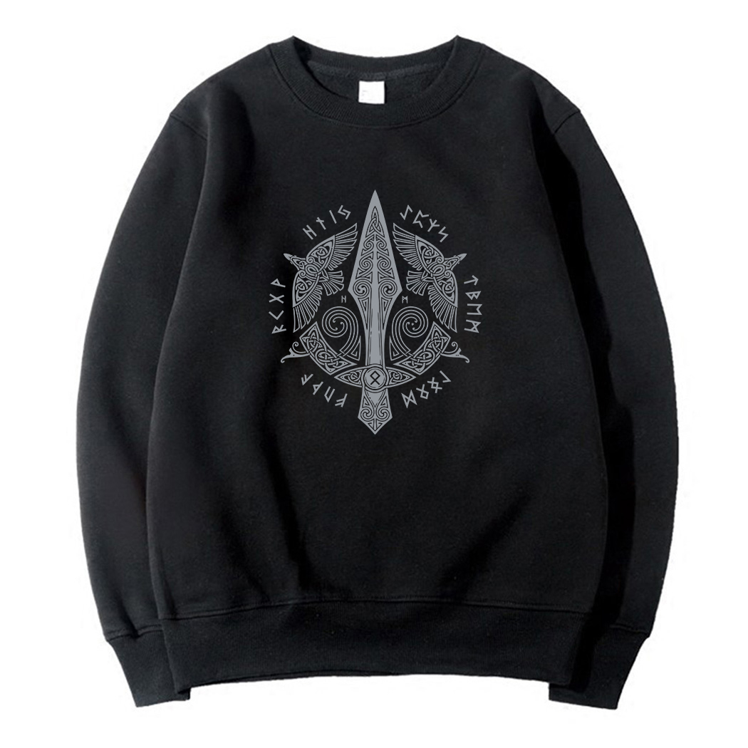 long Sleeve Clothes casual fleece pullovers Vikings Odin top Odin Viking hoodies for Men O-Neck Brand tracksuits 2019 sweatshirt