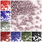 10g 1x1.5mm MiYuki&reg Delica Tube Loose Beads, Japanese Seed Beads, 11/0 AB Color Frosted Opaque Glass Bugle Beads, Round Hole