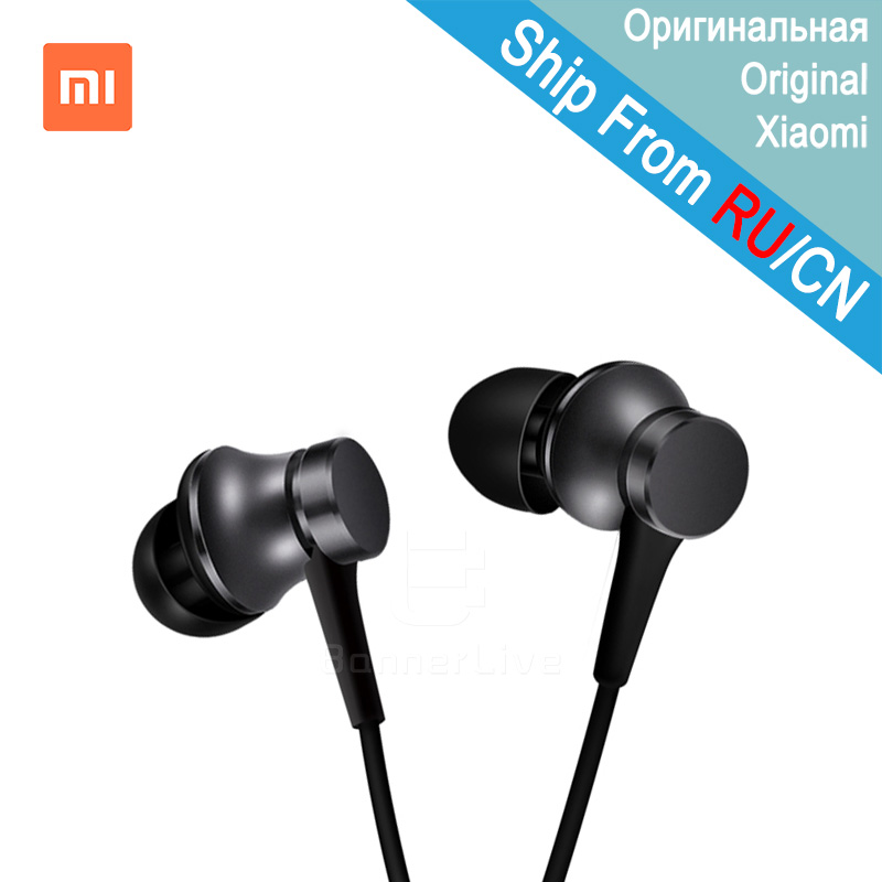 Original Xiaomi Headset Piston 3 Basic Fresh Version In-Ear Stereo with Mic Earbud Mi Earphone for Xiaomi Redmi Samsung iPhone xiaomi miui 3 5mm stereo in ear earphone w microphone black