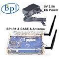 Банан П. и. R1 BPI-R1 Умный Дом Открытым Исходным Кодом Беспроводной Маршрутизатор + 2 * Антенны 3dB + Акриловый Чехол + 5 В 2.5 ЕС Питания питания