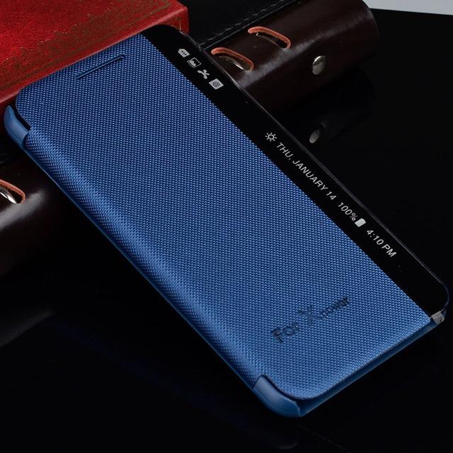 Pour LG X housse dalimentation vue fenêtre latérale réponse rapide sommeil rabat housse en cuir pour LG XPower K210 K220DS k220y Ls755 Fundas Coque