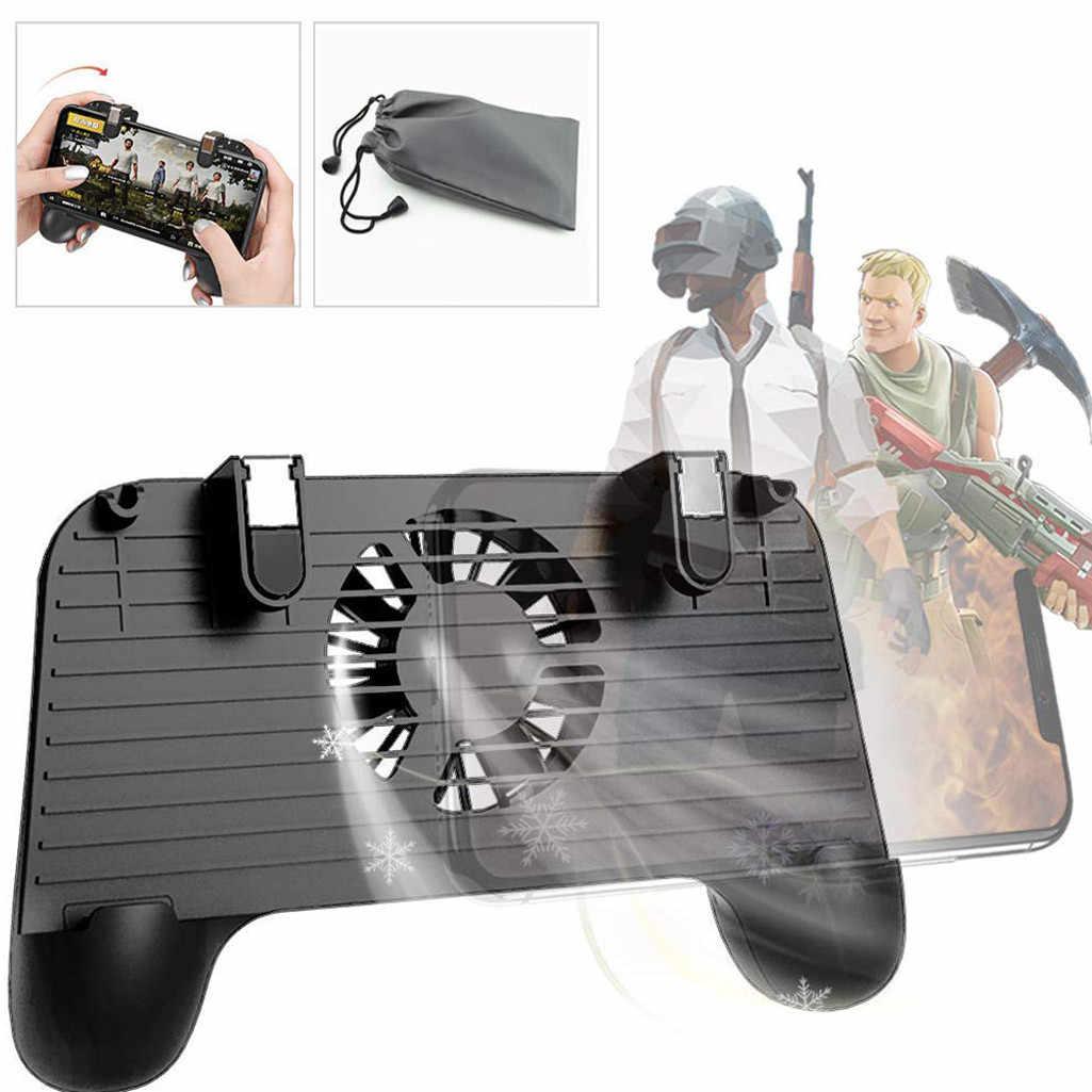 Игровой контроллер для мобильного телефона PUBG 4в1 геймпад для съемки и прицела триггер для телефона охлаждающий игровой адаптер для сотового телефона аксессуары