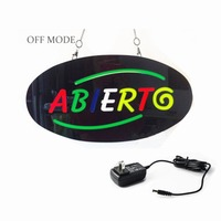 43 X 23cm ABIERTG Can Custom Design EPOXY Open LED Light Sign On Off Switch Bright